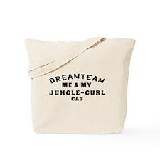 Jungle-curl Cat Designs Tote Bag