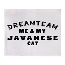Javanese Cat Designs Throw Blanket