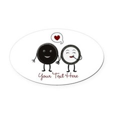 Add text Cookies Oval Car Magnet
