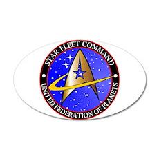 Star Fleet Command 35x21 Oval Wall Decal