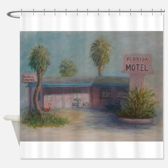FLORIDA MOTEL Shower Curtain