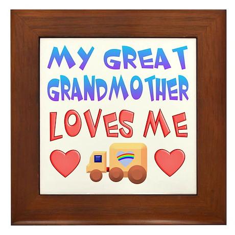 """Baby-Boy """"Great Grandmother"""" Framed Tile"""