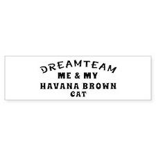 Havana Brown Cat Designs Bumper Sticker