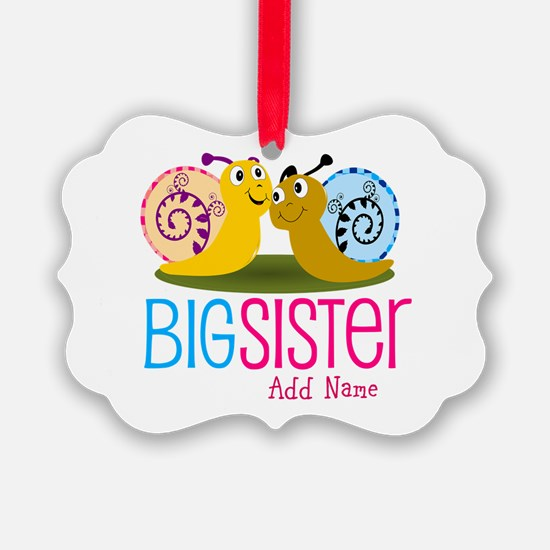 Add Name Big Sister Ornament