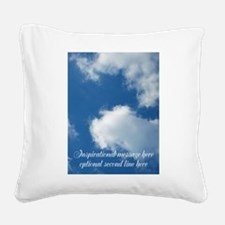 inspirational clouds poster Square Canvas Pillow