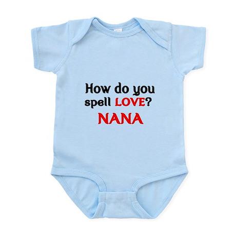 how do you spell love  nana baby light bodysuit how do you spell love  nana body suit