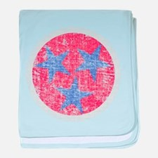 Blue Star Flag baby blanket