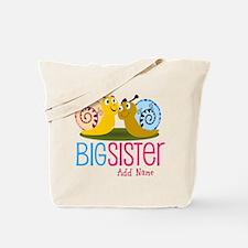 Add Name Big Sister Tote Bag