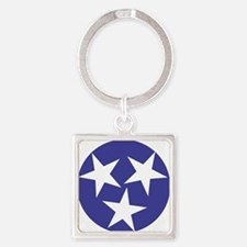 Tennessee Stars Square Keychain
