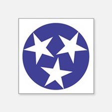 "Tennessee Stars Square Sticker 3"" x 3"""