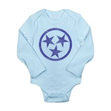 Faded Tennessee Blues Long Sleeve Infant Bodysuit