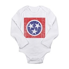 Faded Tennessee Flag Long Sleeve Infant Bodysuit