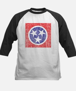 Faded Tennessee Flag Kids Baseball Jersey