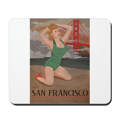 Vintage San Fran Travel Mousepad
