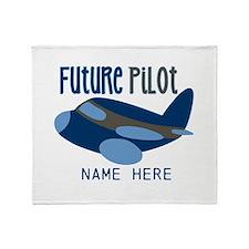 Add Name Future Pilot Throw Blanket