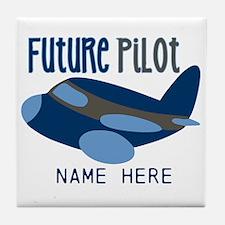 Add Name Future Pilot Tile Coaster