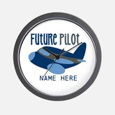 Add Name Future Pilot Wall Clock
