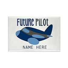Add Name Future Pilot Rectangle Magnet