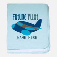 Add Name Future Pilot baby blanket