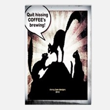 Funny Coffee Cats Postcards (Package of 8)