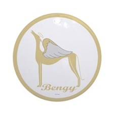 BENGY ANGEL GREY ROUND ORNAMENT