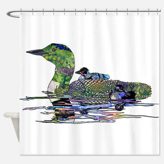 Colorful Loon Shower Curtain