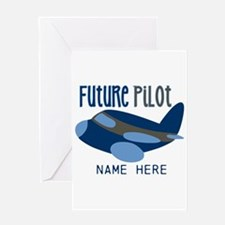 Add Name Future Pilot Greeting Card