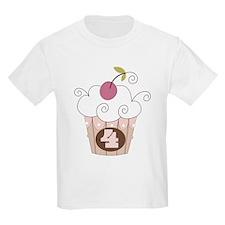 4th Birthday Cupcake T-Shirt