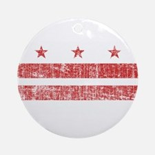 Aged Washington D.C. Flag Ornament (Round)