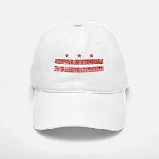 Aged Washington D.C. Flag Baseball Baseball Cap
