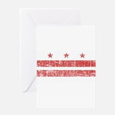 Aged Washington D.C. Flag Greeting Card