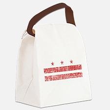 Aged Washington D.C. Flag Canvas Lunch Bag