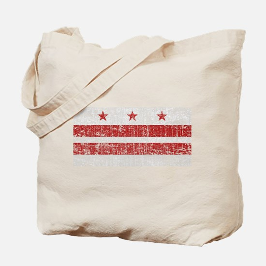 Aged Washington D.C. Flag Tote Bag