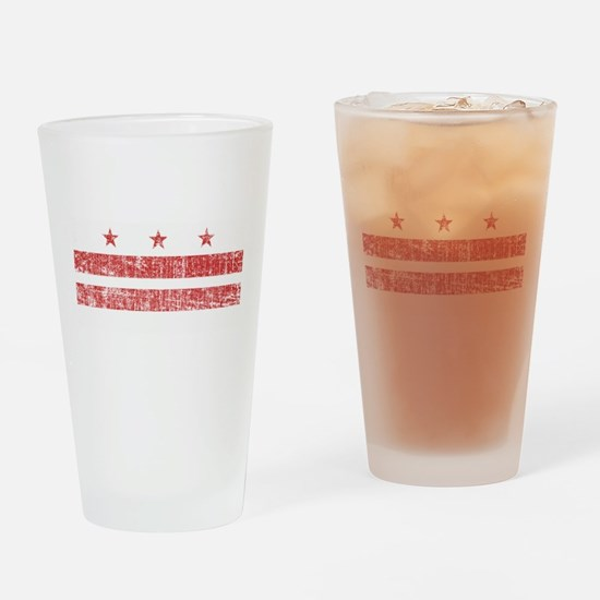 Aged Washington D.C. Flag Drinking Glass