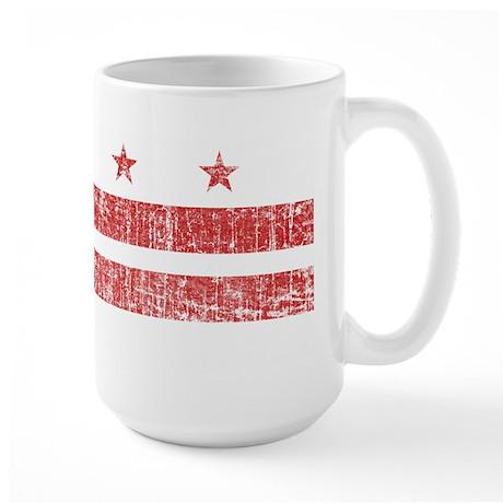 Aged Washington D.C. Flag Large Mug