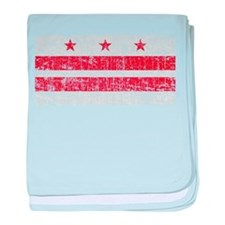 Aged Washington D.C. Flag baby blanket