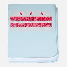 Aged Washington D.C. Flag baby blanket