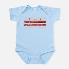 Aged Washington D.C. Flag Infant Bodysuit