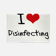 I Love Disinfecting Rectangle Magnet
