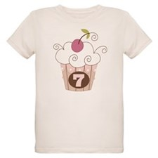 7th Birthday Cupcake T-Shirt