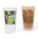 Rubber Chicken First Aid Drinking Glass