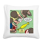 Rubber Chicken First Aid Square Canvas Pillow