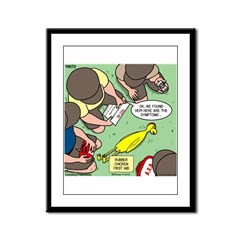 Rubber Chicken First Aid Framed Panel Print