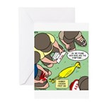 Rubber Chicken First Aid Greeting Cards (Pk of 10)