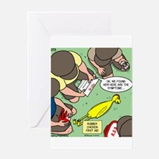 Rubber Chicken First Aid Greeting Card