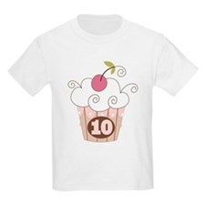 10th Birthday Cupcake T-Shirt