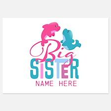 Custom Dolphin Big Sister Invitations