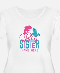 Custom Dolphin Big Sister T-Shirt
