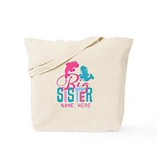 Custom Dolphin Big Sister Tote Bag