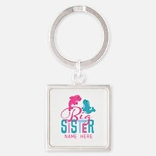 Custom Dolphin Big Sister Square Keychain